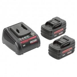 Juego de 2 baterías avanzadas de litio de 18 V y 1 cargador (230 V)